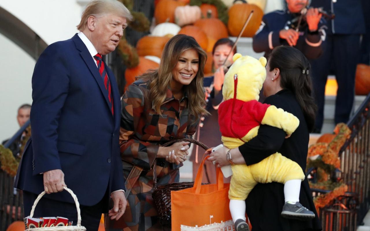 Trump'a cadılar bayramında korkunç sürpriz! Tepkisi şoke etti