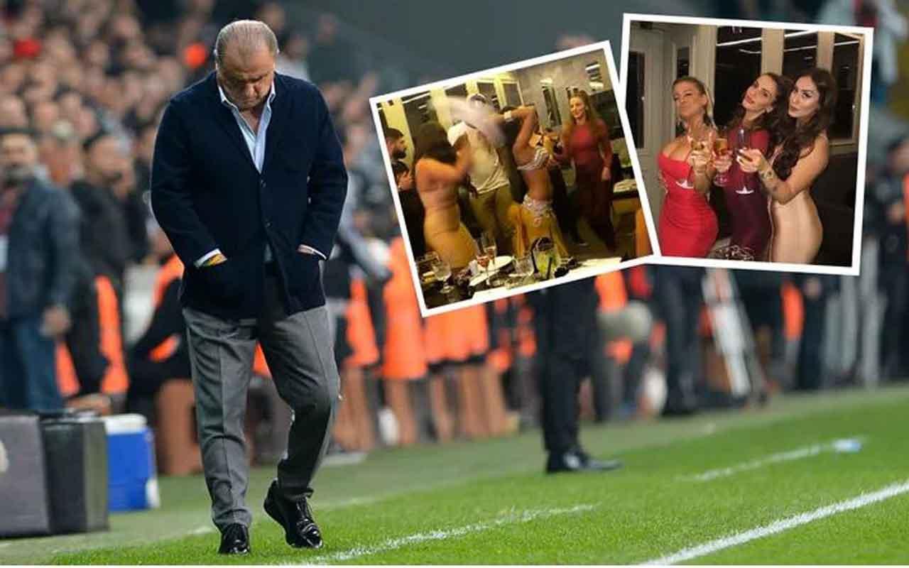 Galatasaraylı futbolcular derbi sonrası dansöz oynattı Fatih Terim çıldıracak