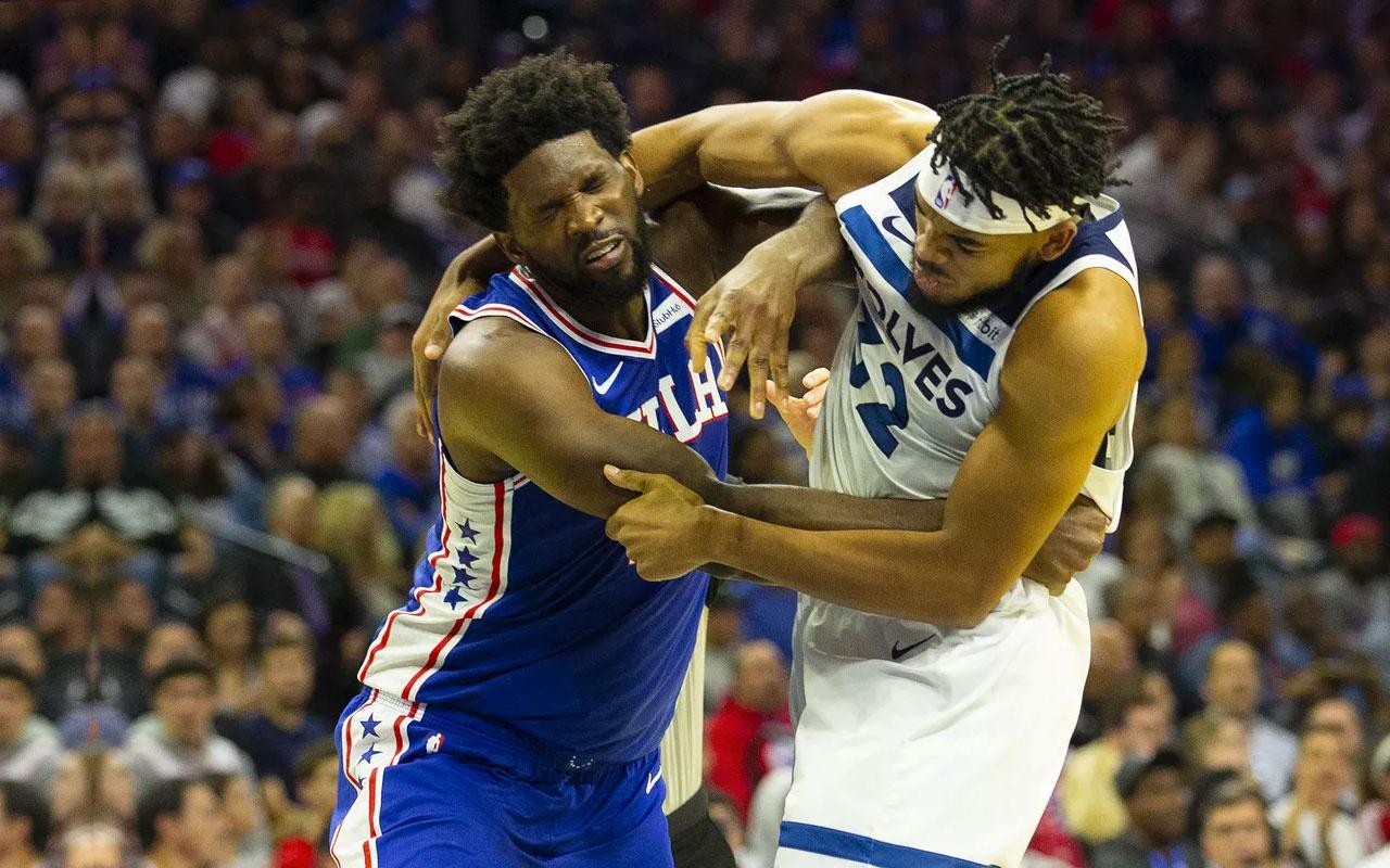NBA'de Karl Anthony Towns ve Joel Embiid gırtlak gırtlağa girdi