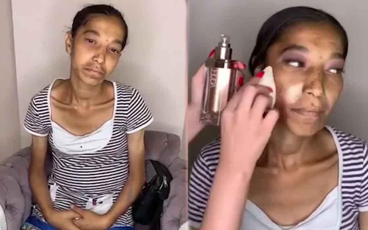 Makyajla kadının değişimi videosu sosyal medyanın gündeminde