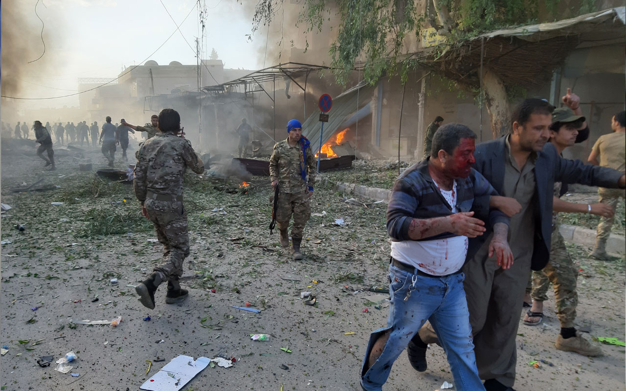 Tel Abyad'da PKK/PYD'li teröristlerce bombalı saldırı! Çok sayıda ölü ve yaralı var