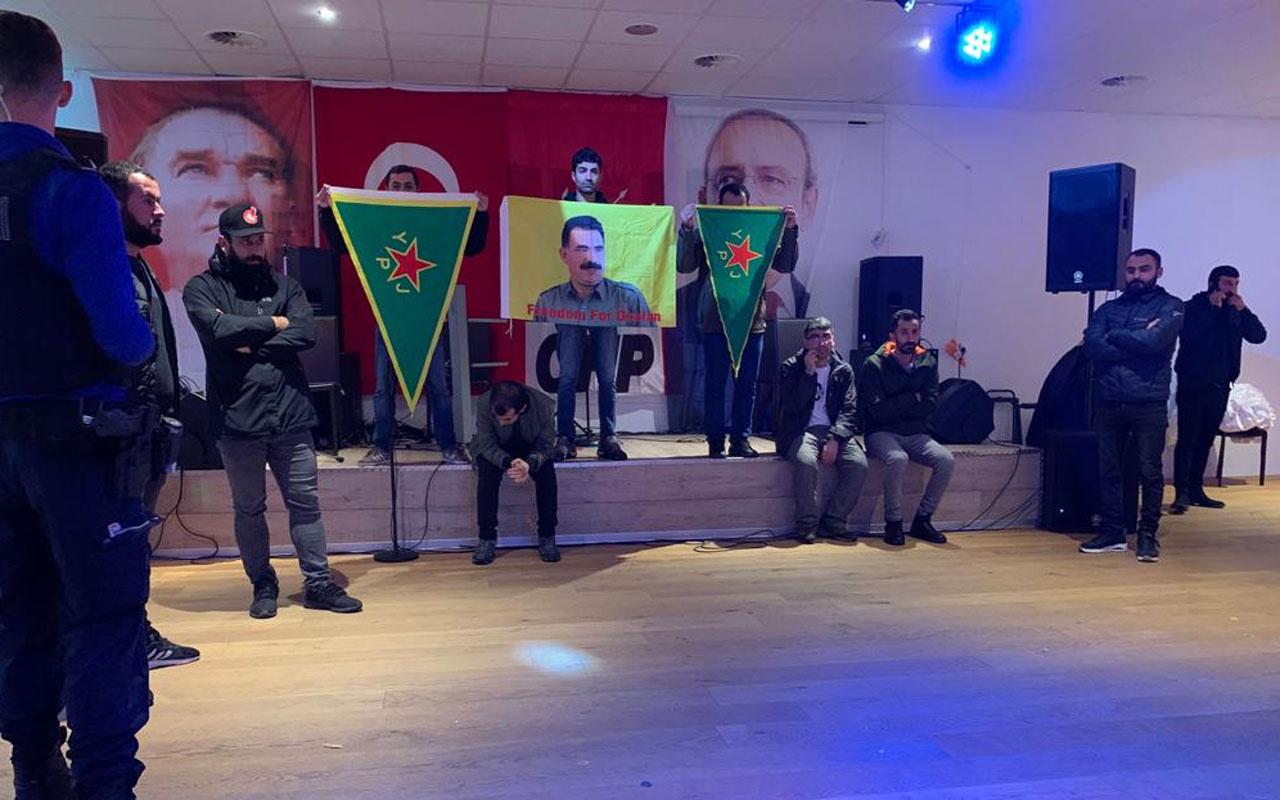 PKK'lılar CHP'nin etkinliğini bastı