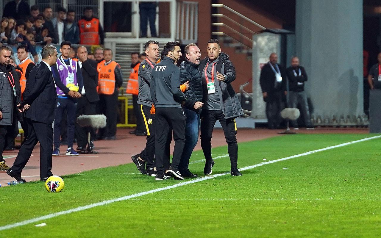 Yeni Malatyaspor Teknik Direktörü Sergen Yalçın 5 saniyede kızardı