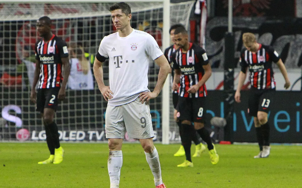 Bayern Münih'e Eintracht Frankfurt darbesi