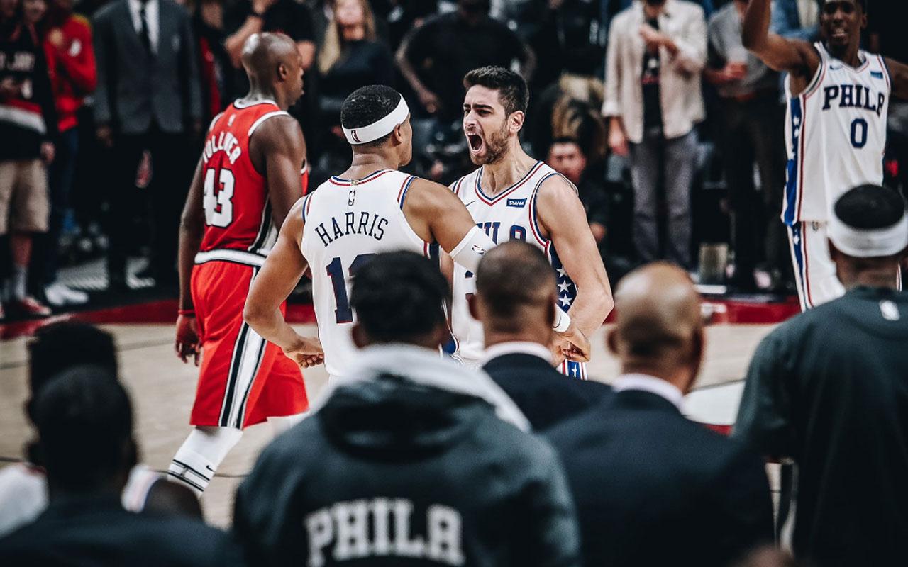 Furkan Korkmaz son saniyede attı Philadelphia 76ers kazandı