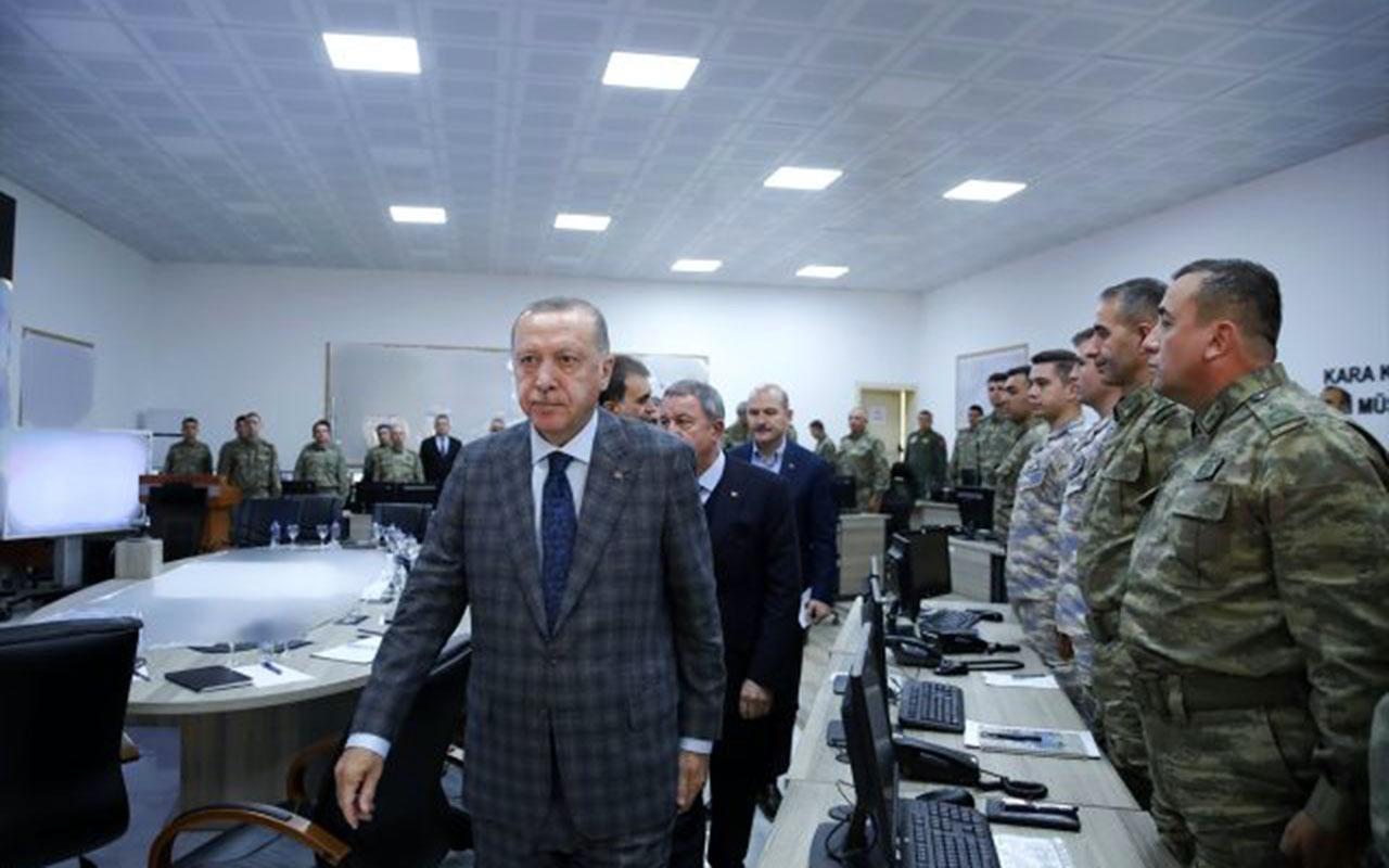 Erdoğan Suriye sınırındaki harekat merkezindeydi