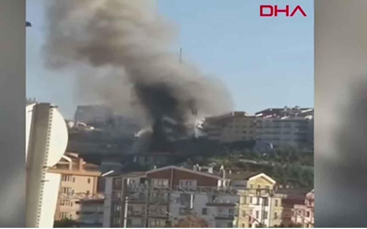 Ankara Mamak'ta Kuşçu Gökbilim Merkezi'nde korkutan yangın!
