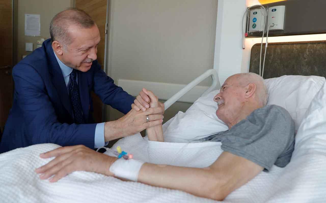 Cumhurbaşkanı Erdoğan, hastanedeki eski Adalet Bakanı Şevket Kazan'ı ziyaret etti