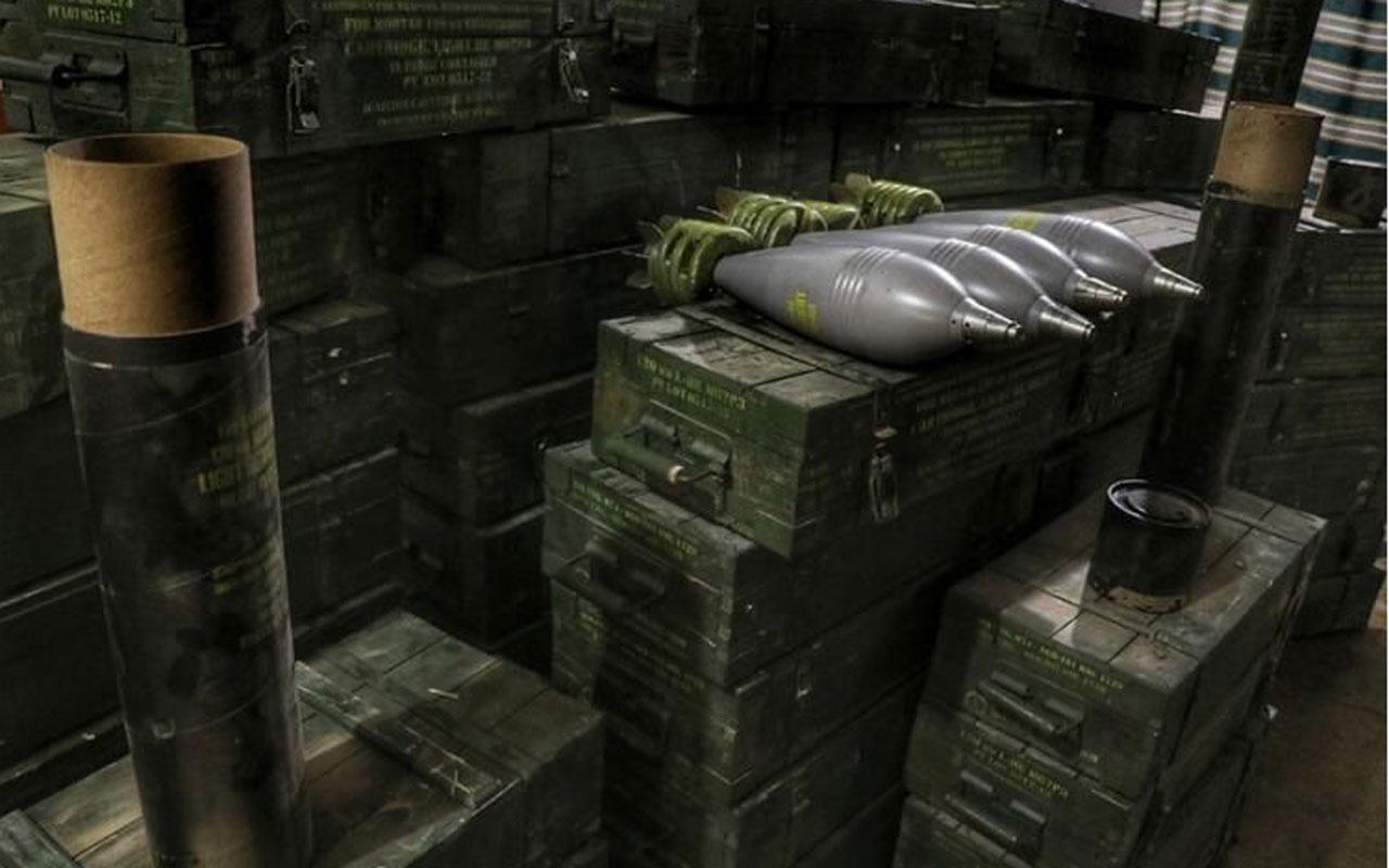 YPG'nin silah deposu ele geçirildi! ABD yapımı havan topları bulundu