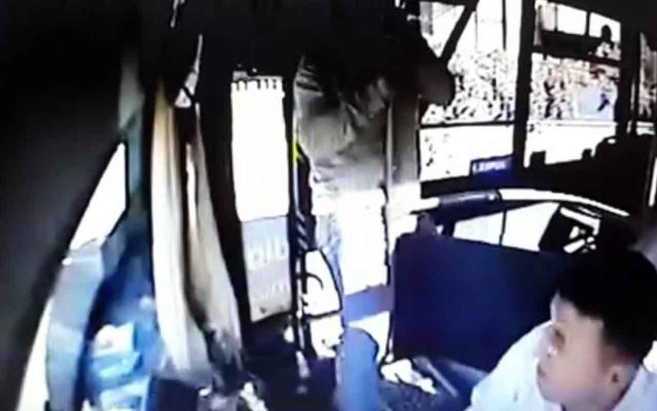 Niğde'de şizofreni tedavisi gören şahıs, otobüs şoförünü tekmeledi