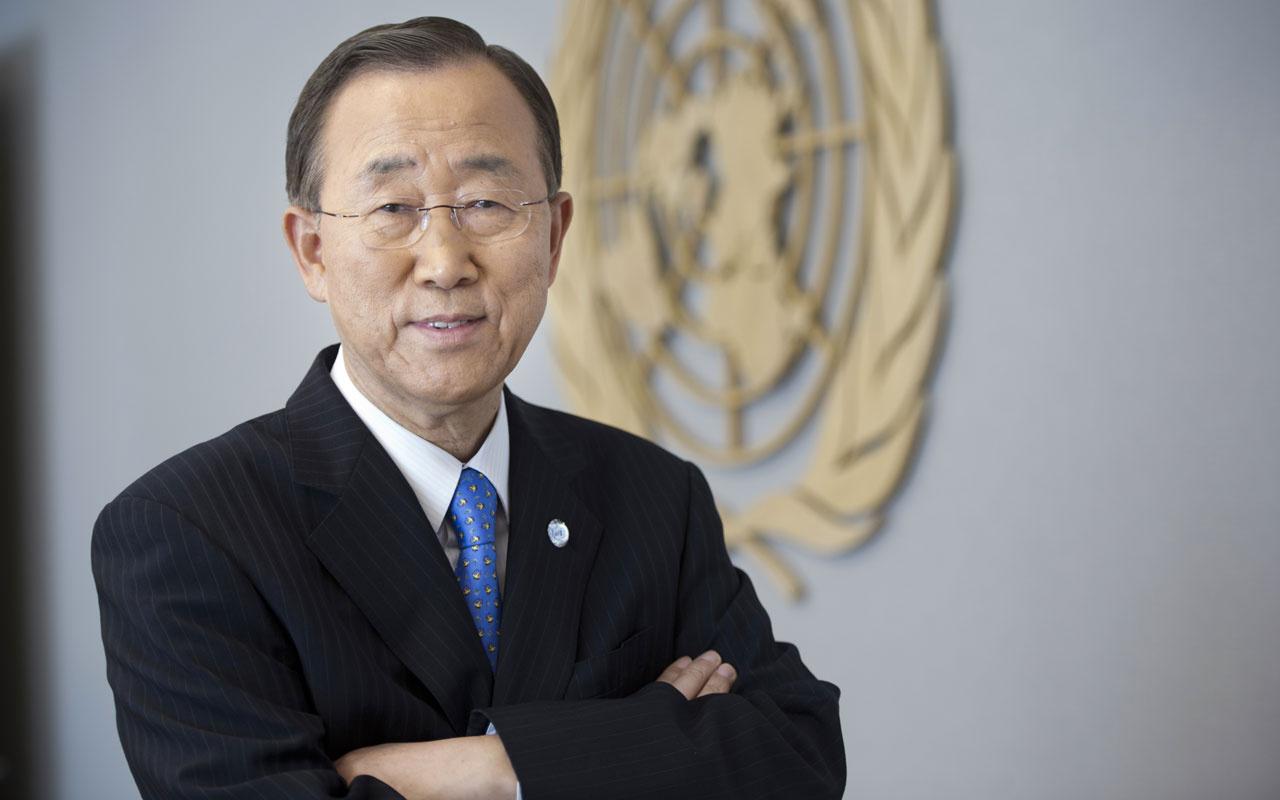Eski BM Genel Sekreteri Ban Ki Moon'ndan Erdoğan'a Barış Pınarı övgüsü