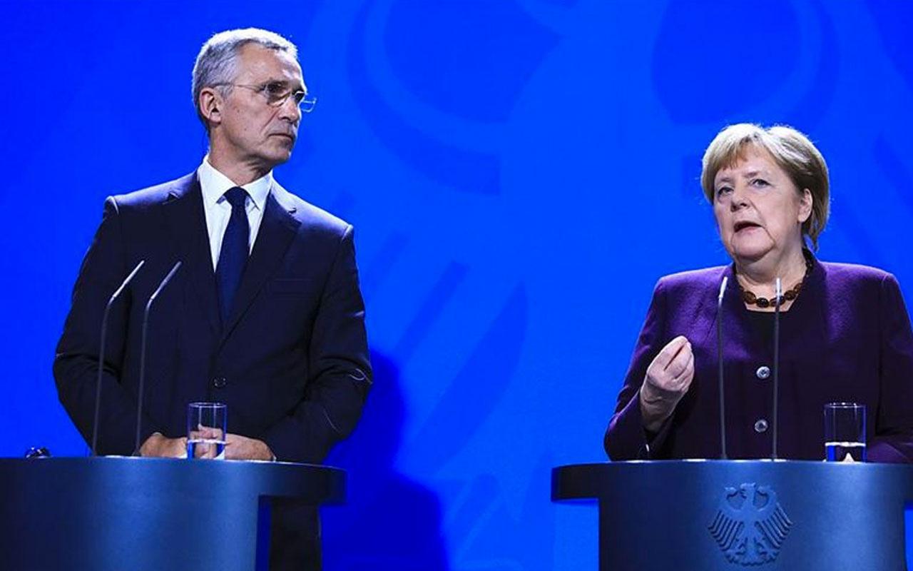NATO'da Türkiye gerilimi Merkel ve Stoltenberg'den Macron'a canlı yayında tepki