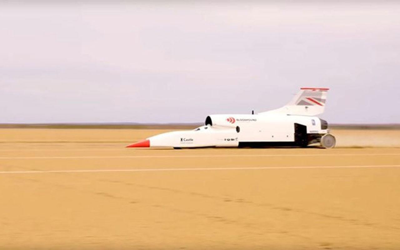 Süpersonik araç Bloodhound hız rekoru kırdı!