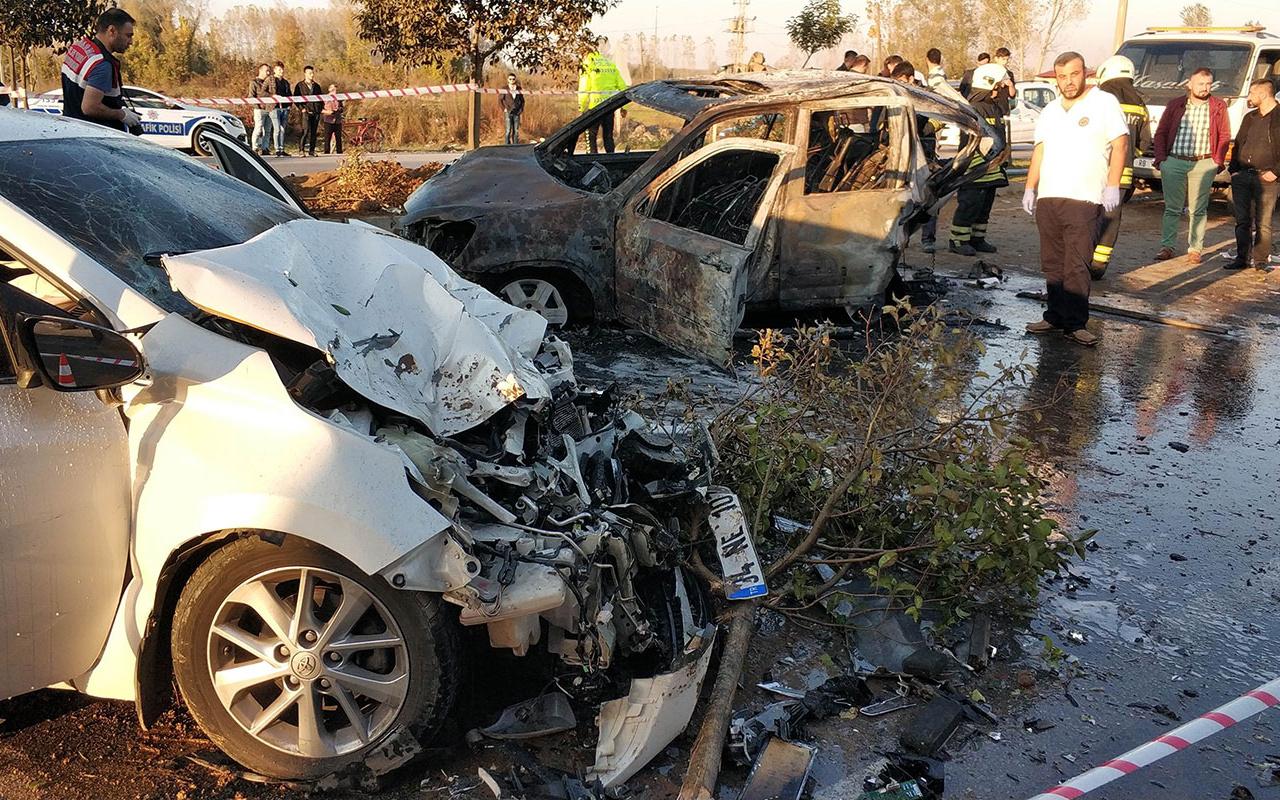 Samsun Cumhuriyet Savcısı kaza yaptı 1 ölü 7 yaralı