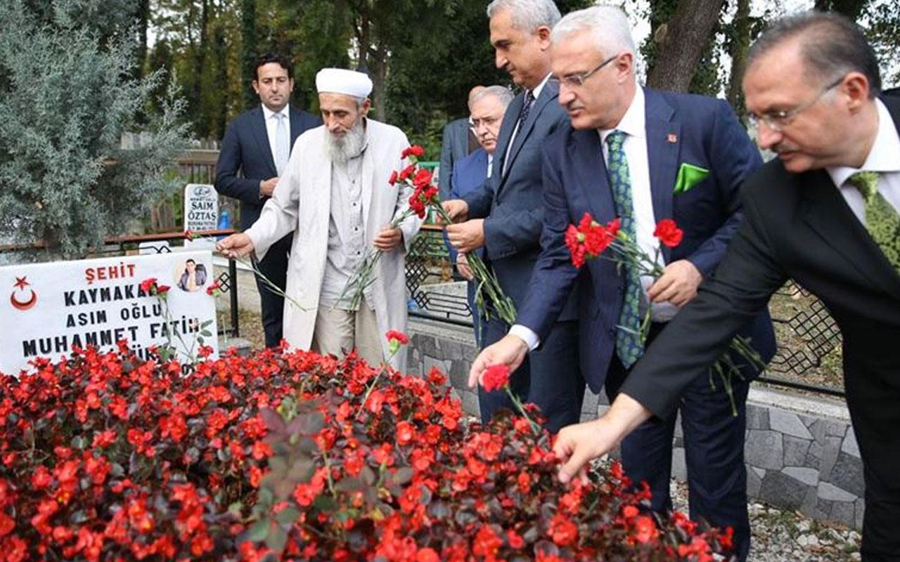 Şehit Kaymakam Safitürk mezarı başında anıldı