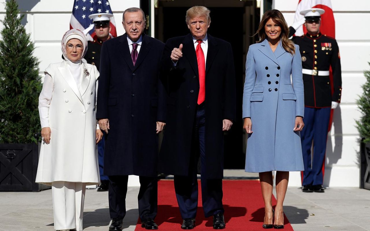 ABD Başkanı Trump Başkan Erdoğan'ı böyle karşıladı