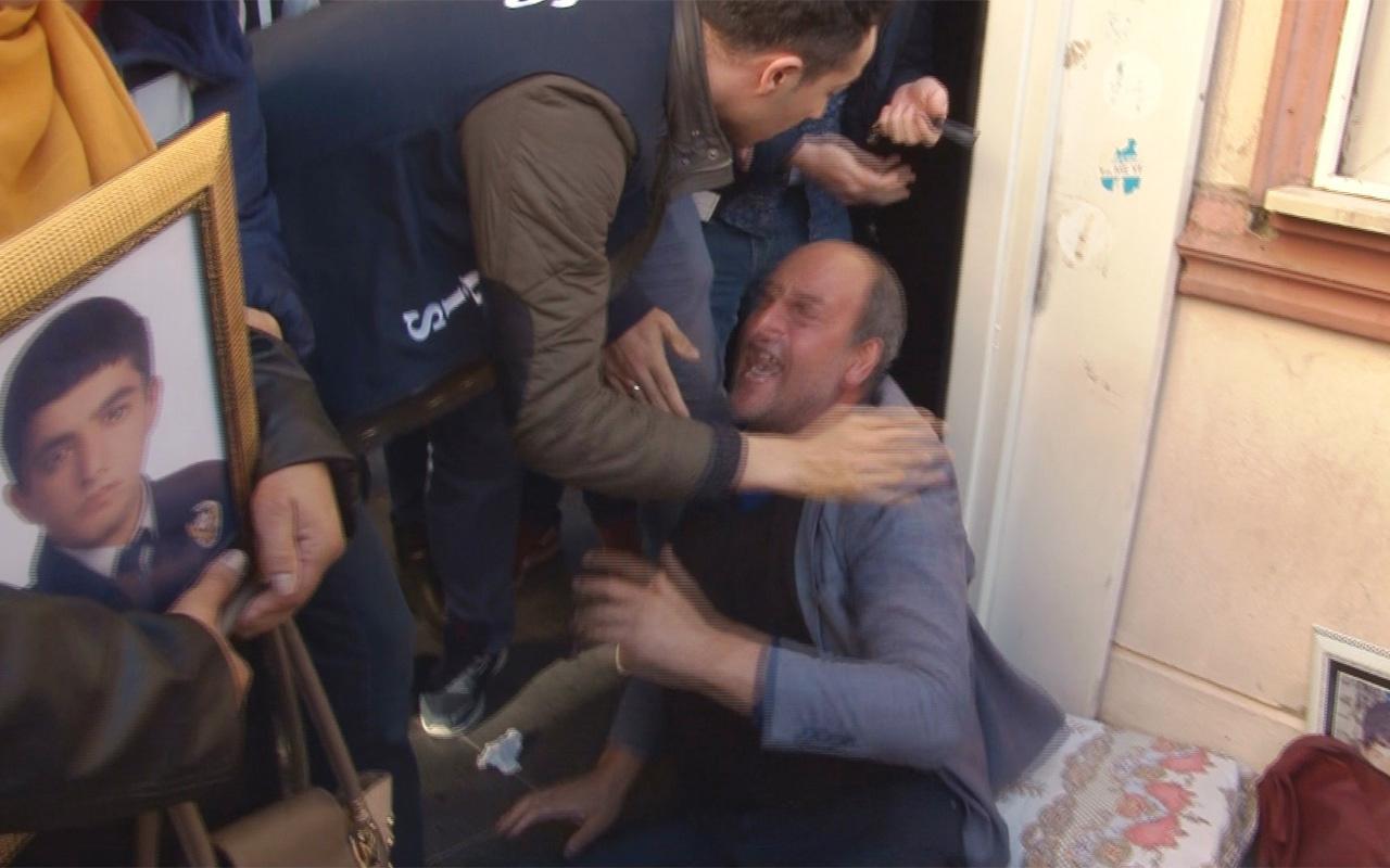 HDP önündeki eylemde dağdaki teröristin ölüm haberini alınca ortalık karıştı