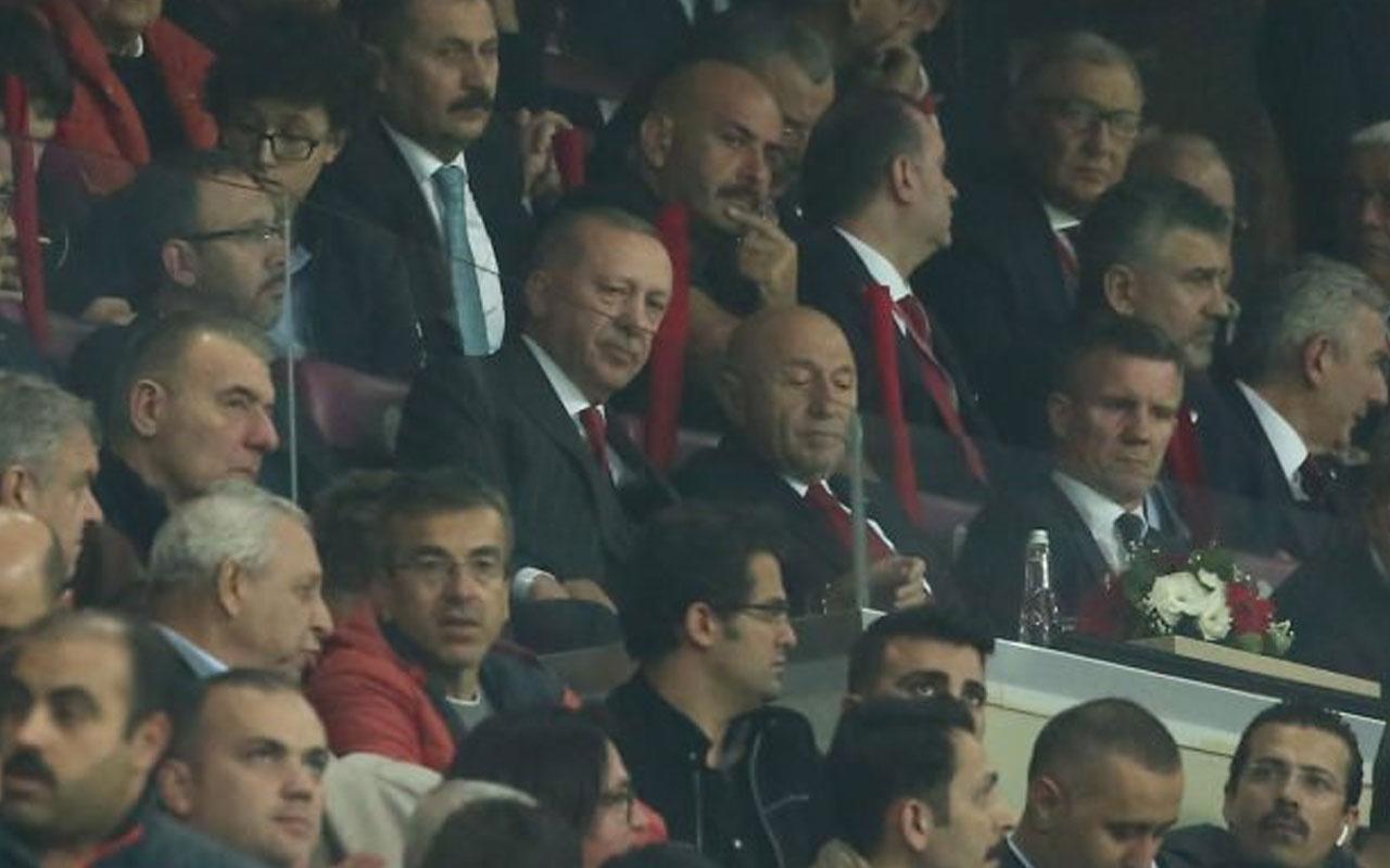 Cumhurbaşkanı Erdoğan, Milliler'i yalnız bırakmadı!