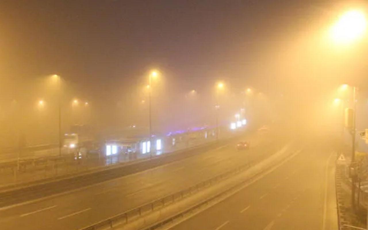 İstanbul güne sisle uyandı! Avrupa Yakası'nda etkili
