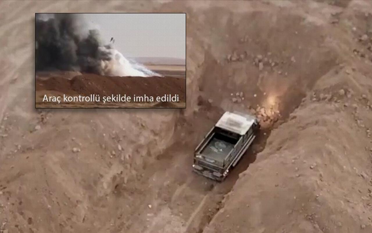 Barış Pınarı Harekatı bölgesinde teröristlere ait bombalı araç ele geçirildi