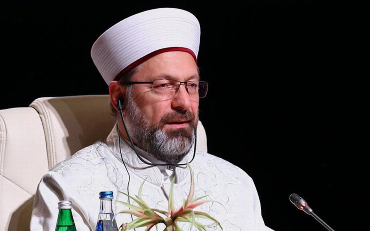 Diyanet İşleri Başkanı Erbaş: Kudüs yeniden barış şehri olmalı