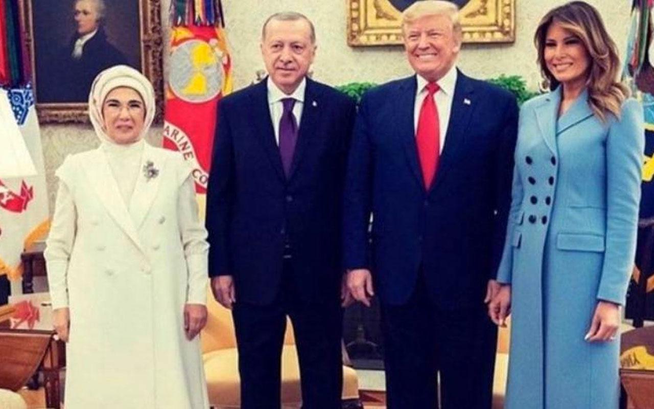 Trump ziyaret sonrası aile fotoğrafı paylaştı! Erdoğan sözleri çok konuşulacak