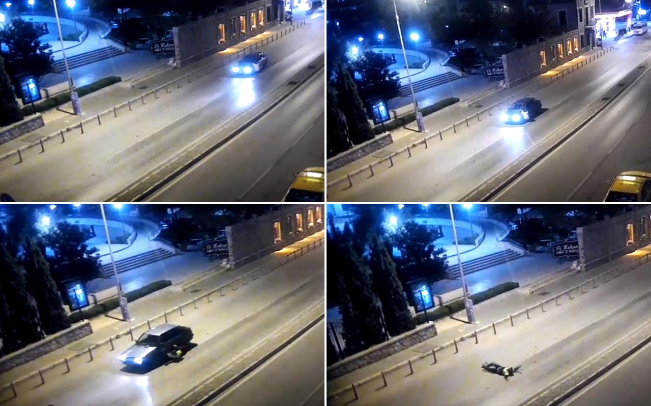 İzmir'de alkollü sürücü polisi 400 metre kaputta sürükledi