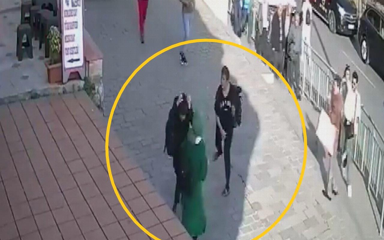 İstanbul Karaköy'de başörtülü kızlara saldırı Şüphelinin başka görüntüleri de varmış