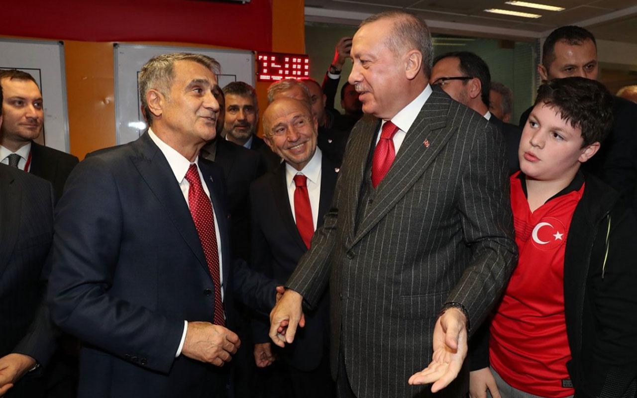Şenol Güneş Cumhurbaşkanı Erdoğan'la neler konuştu?