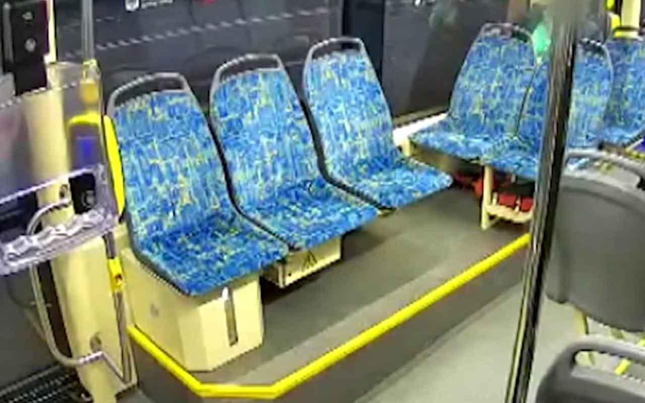 Alkollü adam tramvayda hamile kadına saldırdı