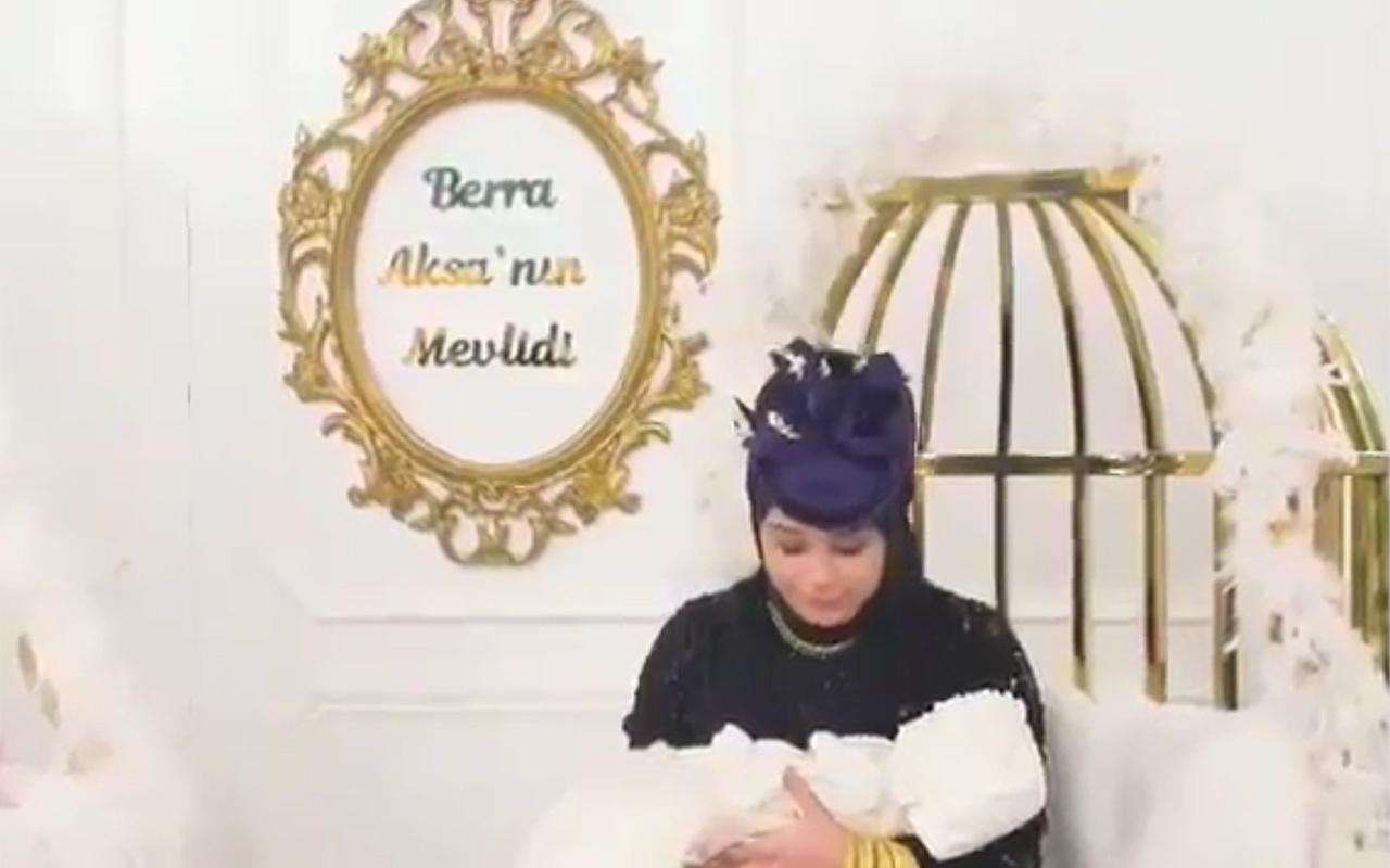 Büşra Nur Çalar ve eski müşavir eşinin olay bebek mevlidi videosu