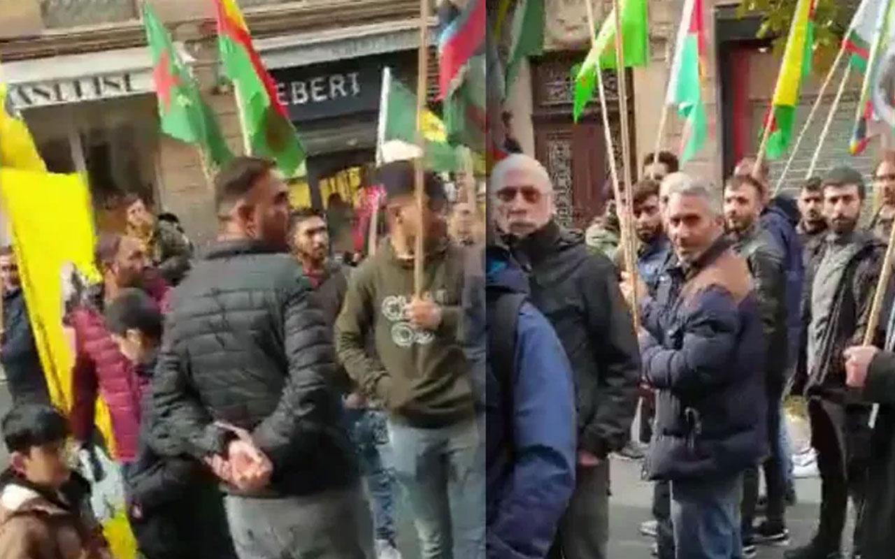 Fransız kadın PKK eylemcilerine böyle haykırdı: Ne mutlu Türk'üm diyene