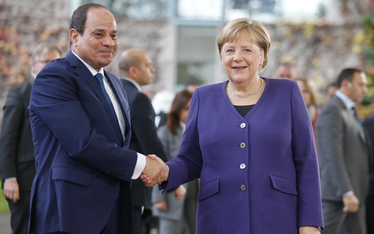 Almanya Başbakanı Angela Merkel Cumhurbaşkanı Abdulfettah es-Sisi'yi kabul etti