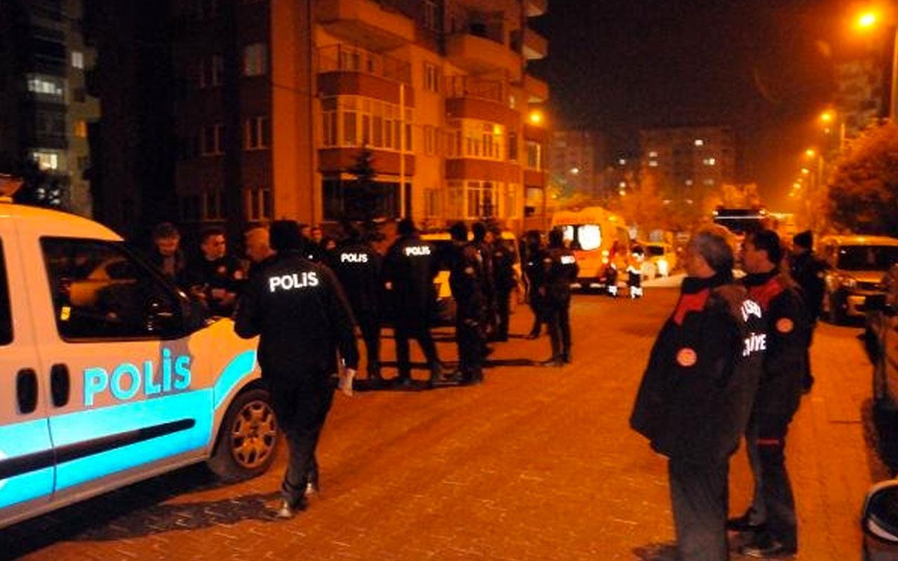 Kayseri'de eşini yaralayan koca kendini eve kilitledi