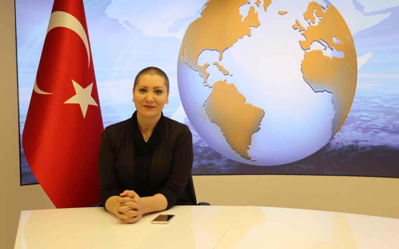 Kanseri yenen sunucu Mehtap Koç TV programına peruksuz çıktı