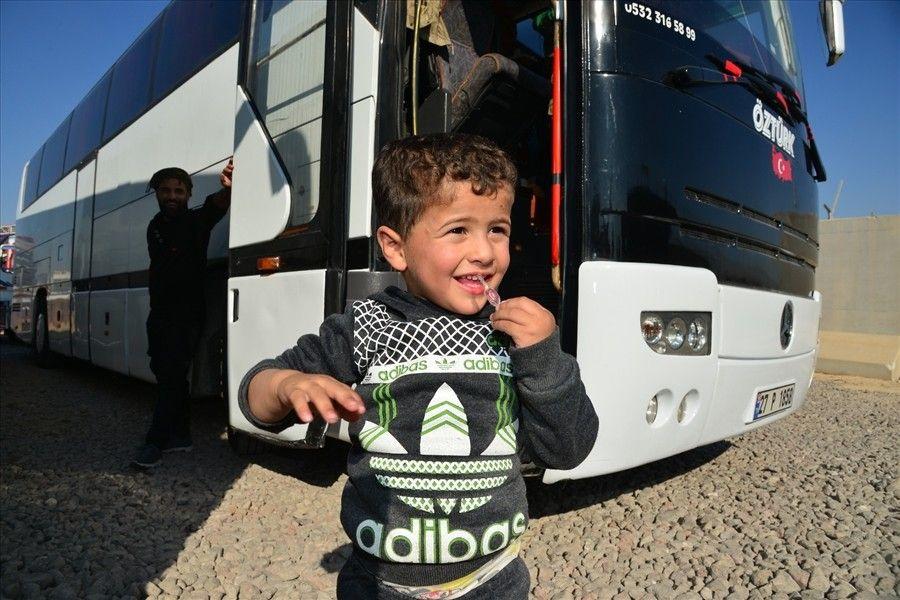 70 aile Tel Abyad bölgesine geri dönmek için yola çıktı