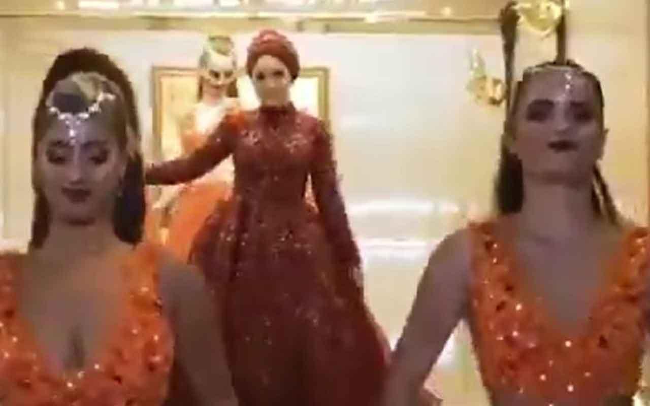 Muhafazakar sosyetenin dansözlü kına gecesi videosu