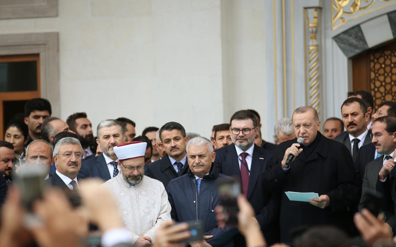 Erdoğan Bilal Saygılı Camii açılışını yaptı vatandaştan yoğun ilgi