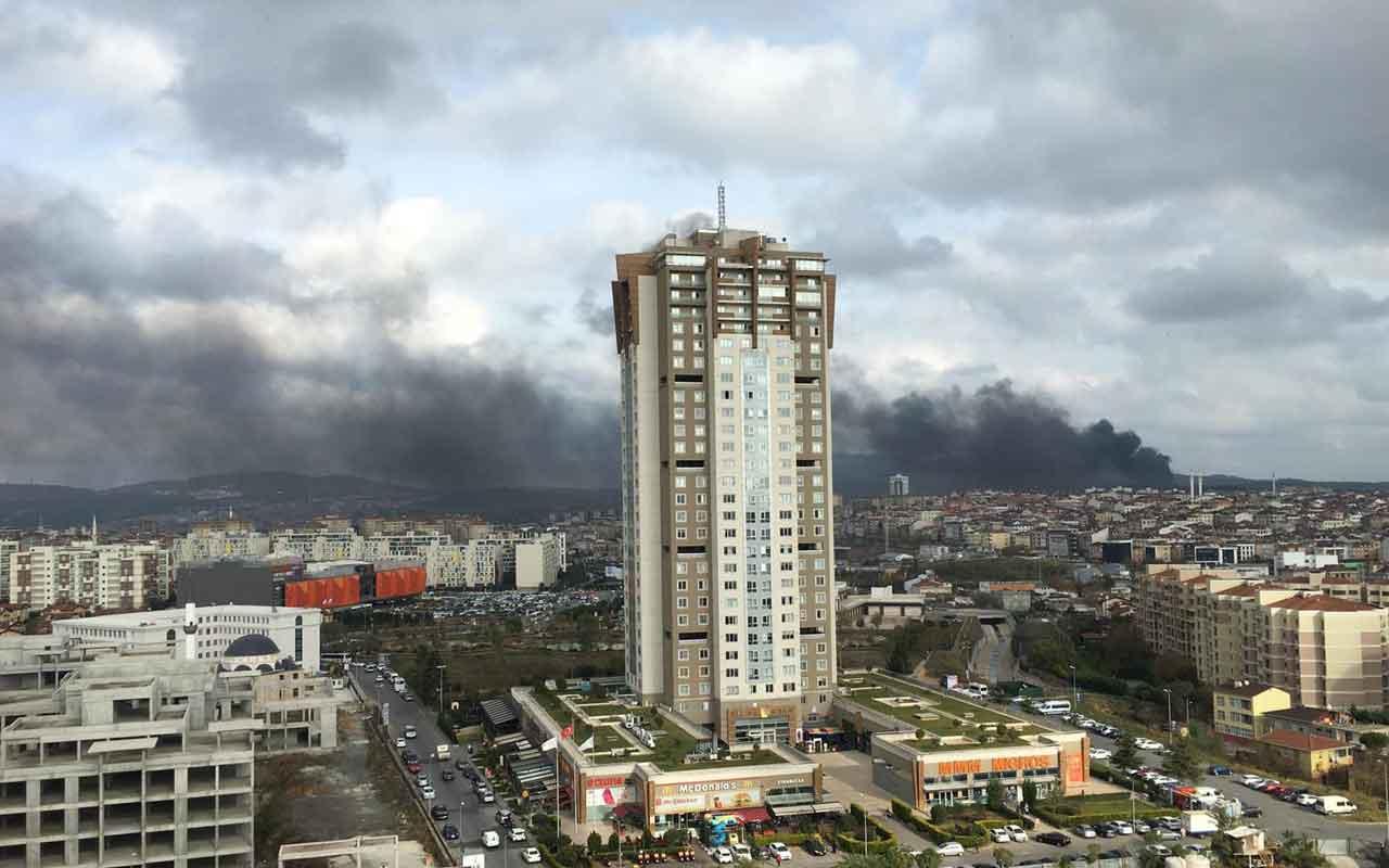 Çekmeköy'de askeri alandaki ormanlıkta yangın