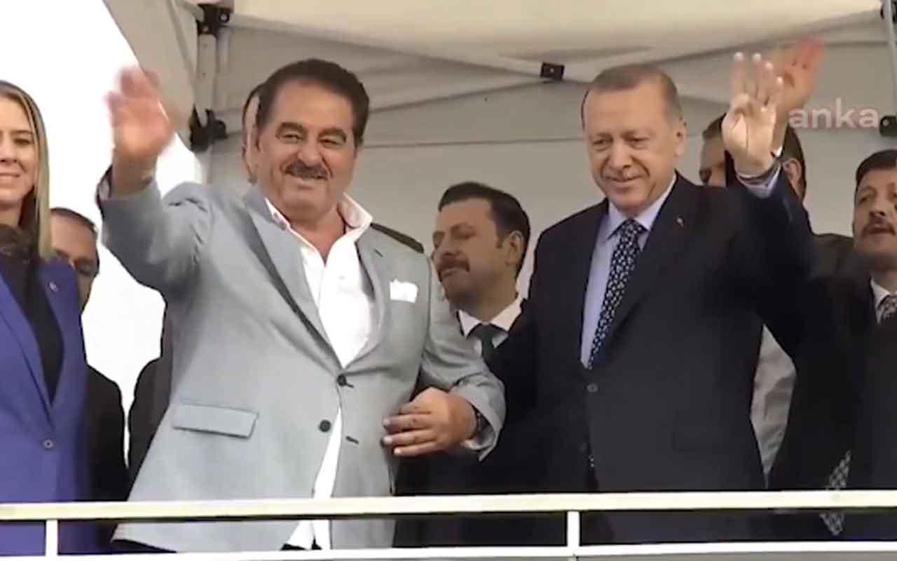Cumhurbaşkanı Erdoğan'ın programında İbrahim Tatlıses sürprizi