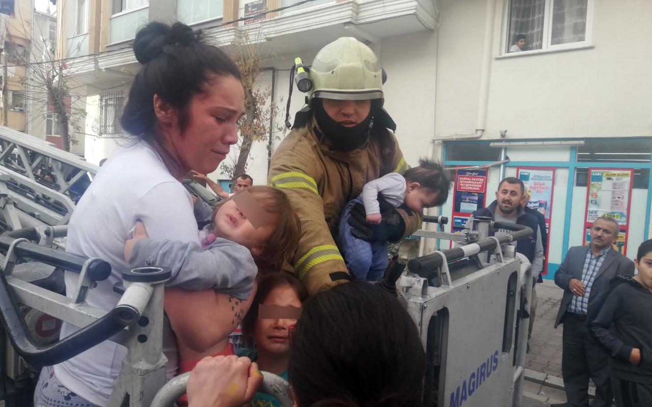 Esenyurt'ta yangın paniği: Bebekli aileler mahsur kaldı