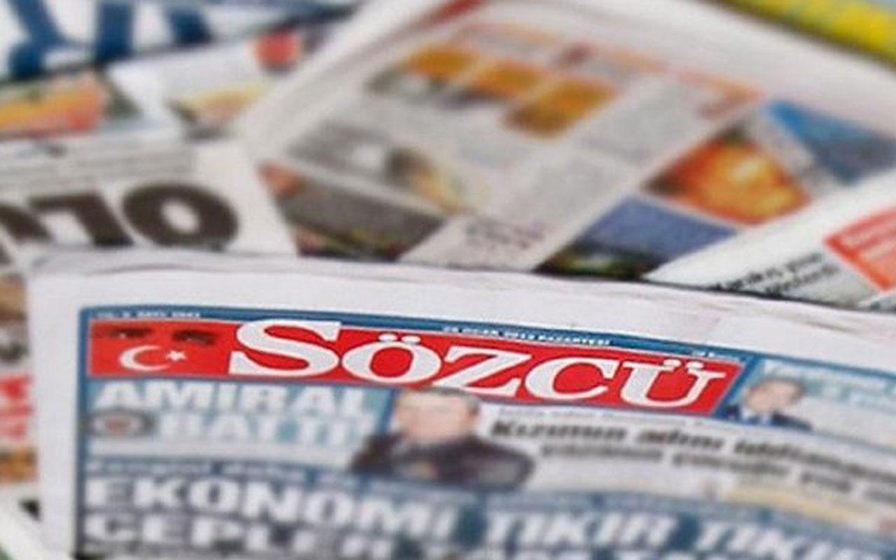 Sözcü gazetesinden açıklama: Yazarlarımızın yazıları kendi görüşleridir