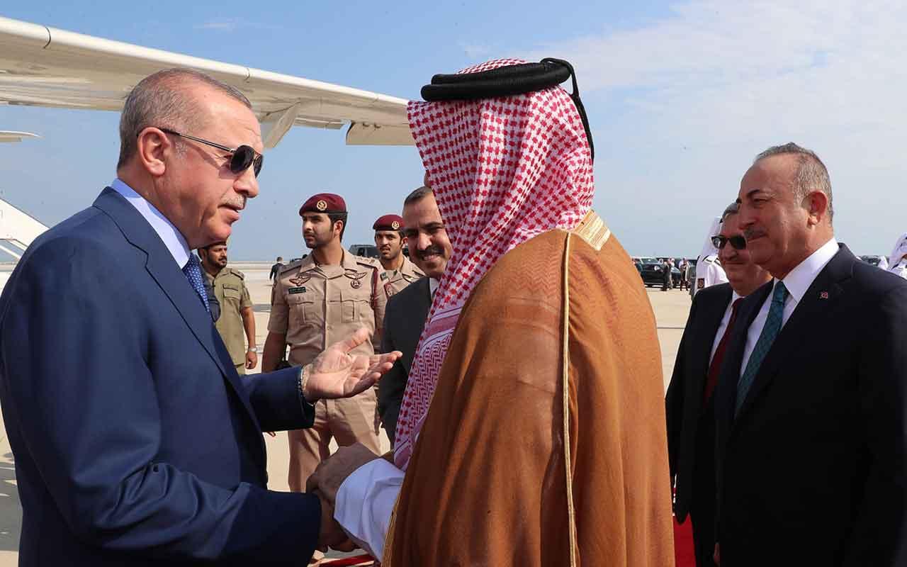 Cumhurbaşkanı Erdoğan'ın Katar Emiri Al Sani görüşmesi başladı