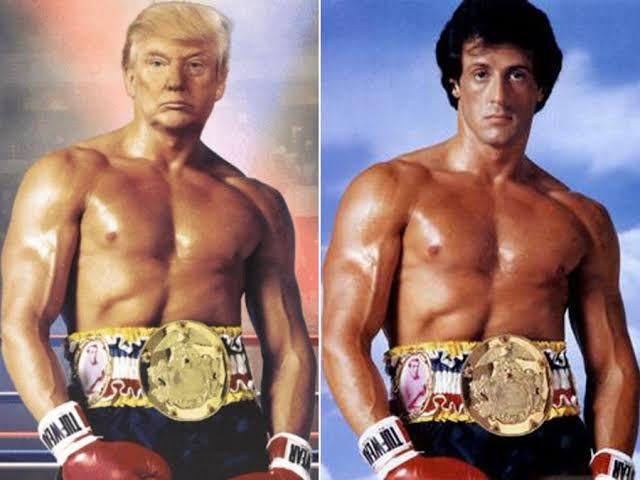 ABD Başkanı Donald Trump 'acı yok' notuyla İtalyan aygırı Rock Balboa pozu verdi