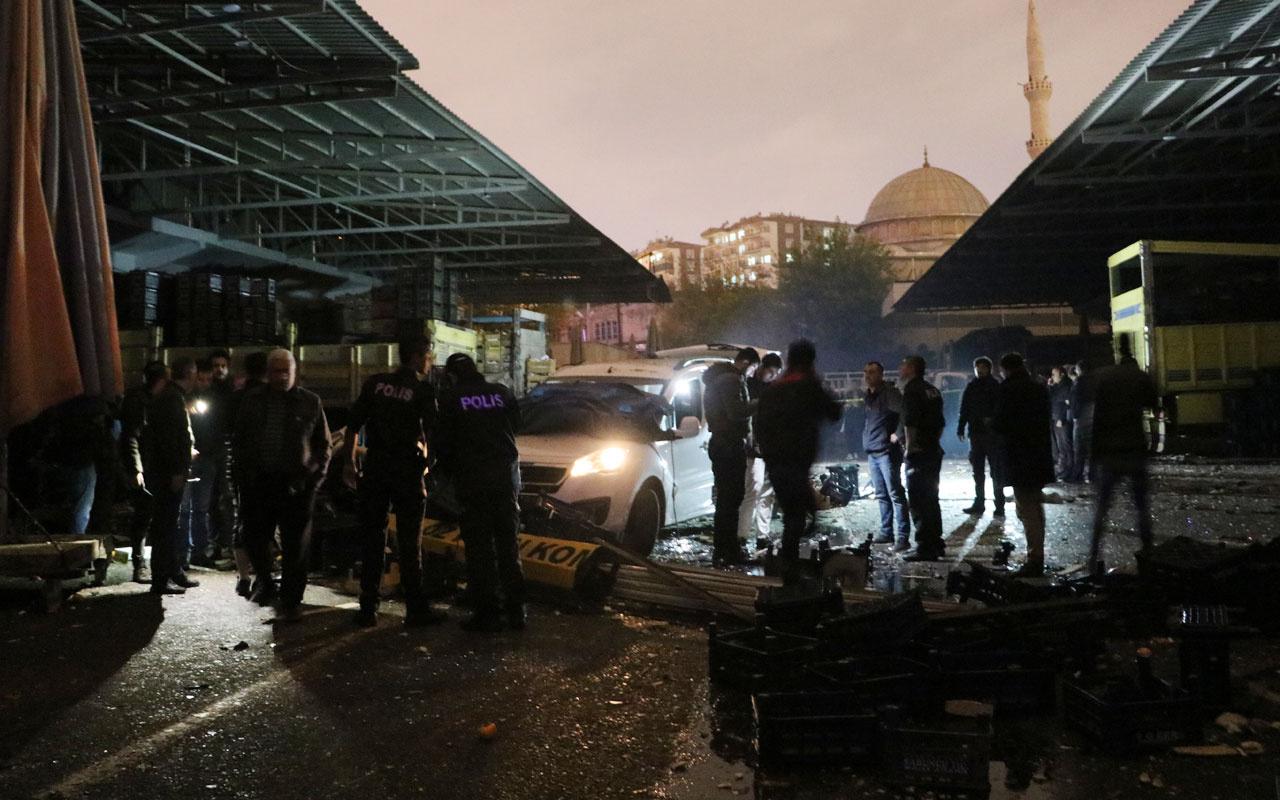 Diyarbakır'da haldeki bir iş yerinde patlama: 1 ölü, 3 yaralı
