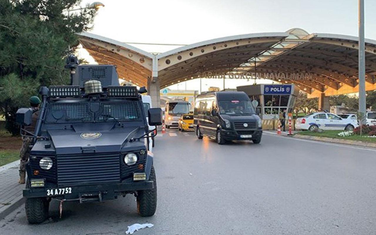 Sabiha Gökçen Havalimanı'nda silahlar patladı