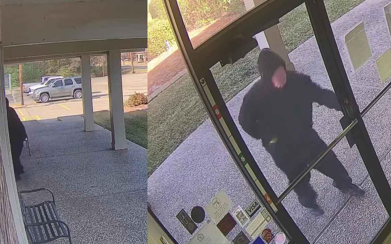 ABD'de sakar hırsız kaçarken maskesini ve paraları düşürdü