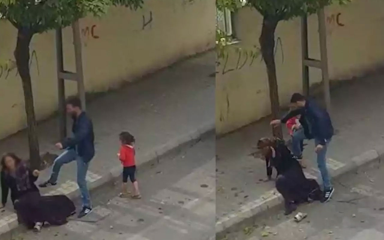 Gaziantep'de eşine sokak ortasında şiddet uygulayan koca tekrar tutuklandı