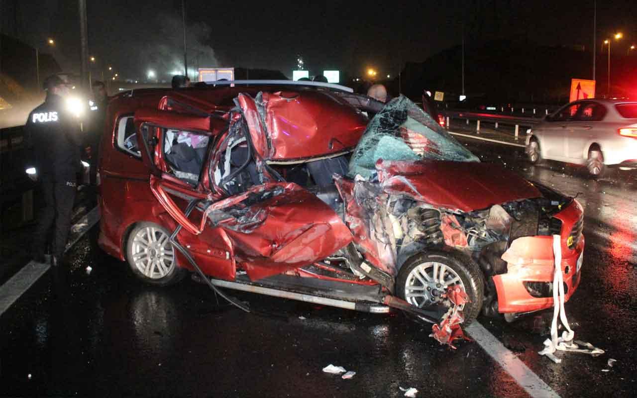Kocaeli'nde feci kaza: 1 ölü 5 yaralı
