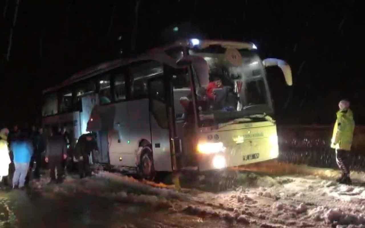 Mahsur kalan ampute futbol takımı otobüsünü AFAD kurtardı